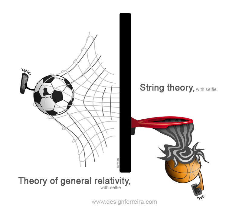 String theory and theory of general relativity, with selfie_Óscar Ferreira